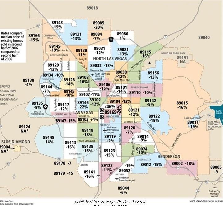 Las Vegas Nv Zip: Map Of Zip Codes In Las Vegas